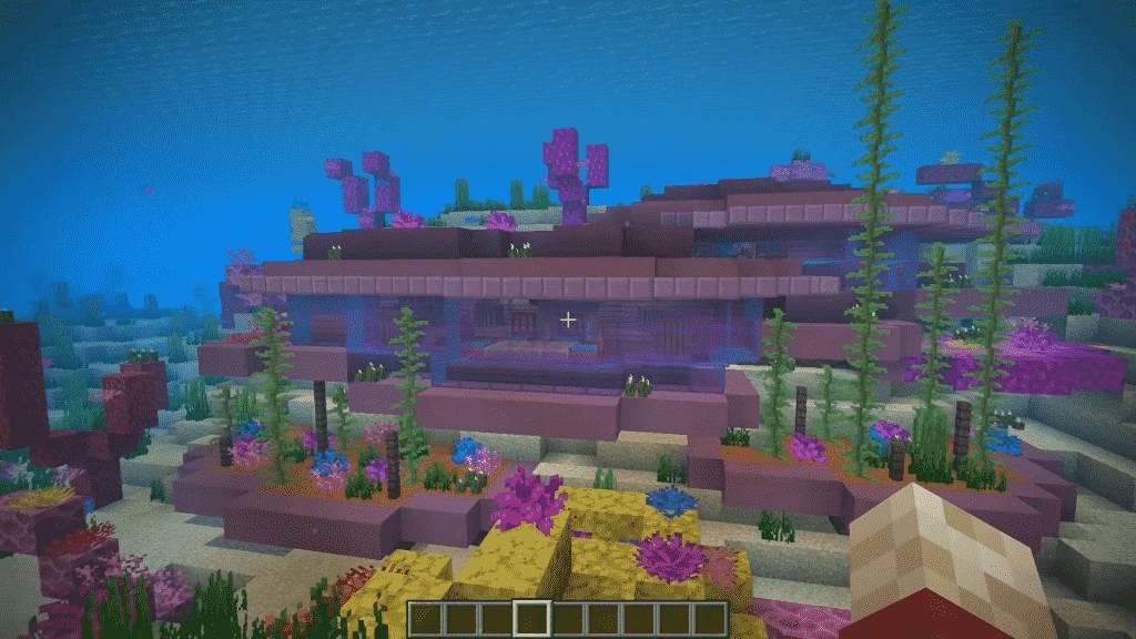 Underwater home in Minecraft