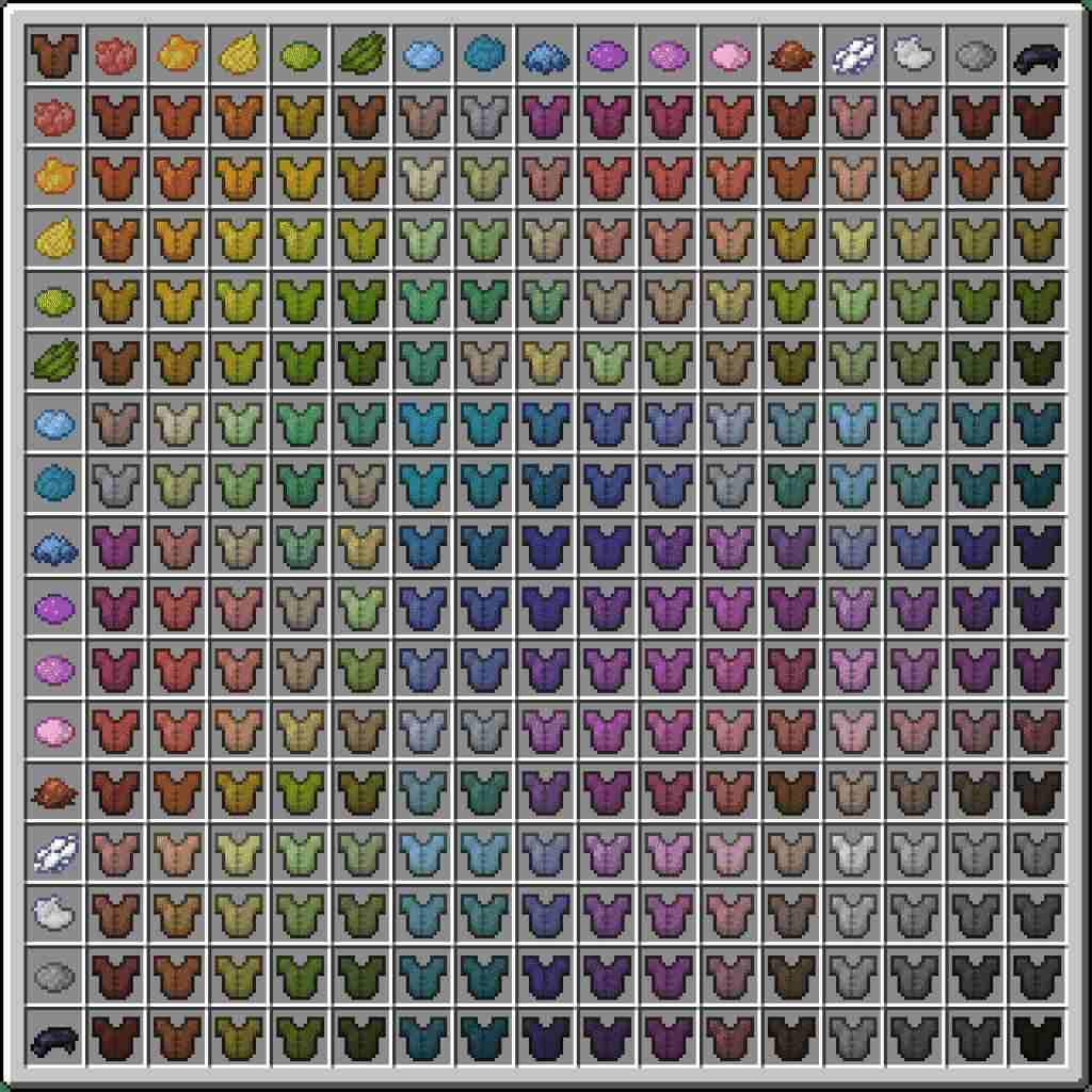 Minecraft armor dyeing