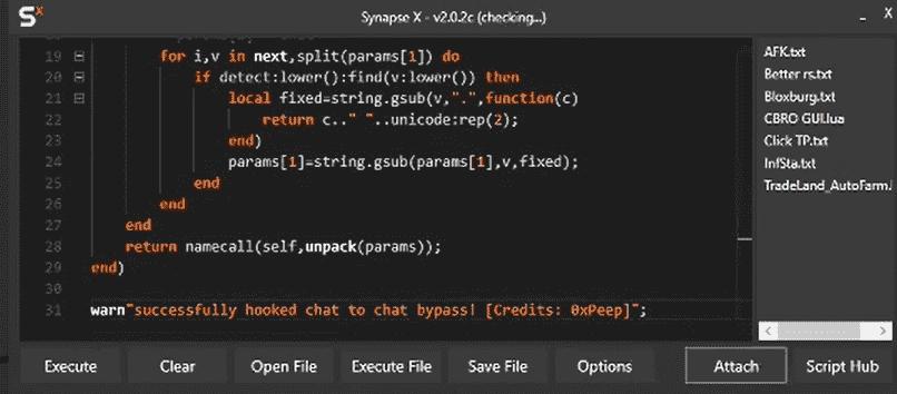 roblox chat bypass script