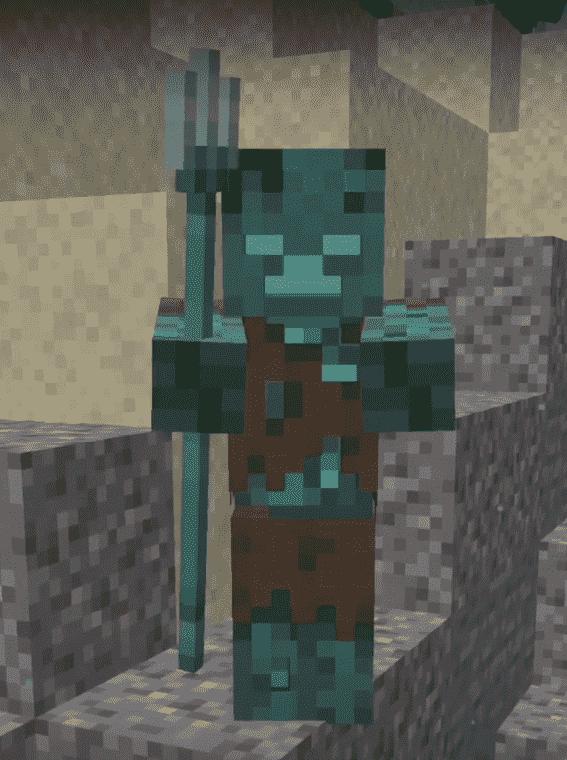 Impaling minecraft trident