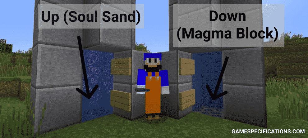 magma block elevator