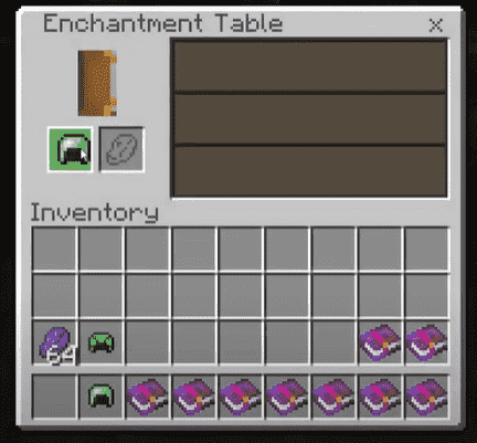 Using enchanting table respiration minecraft