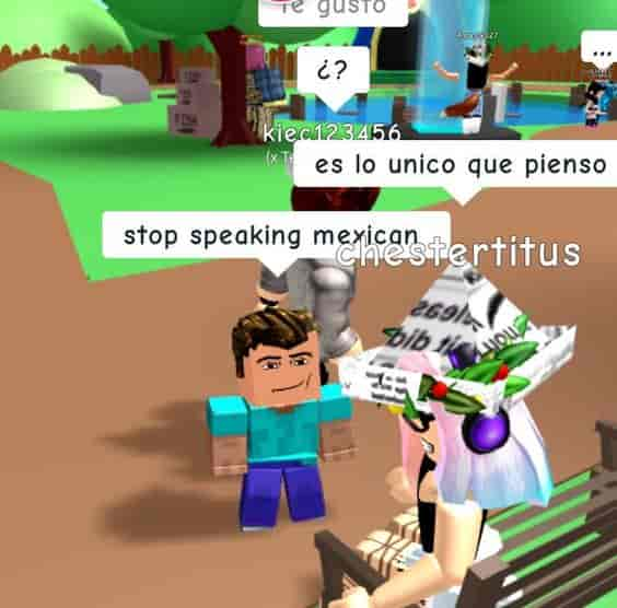 Speaking Mexican in Roblox