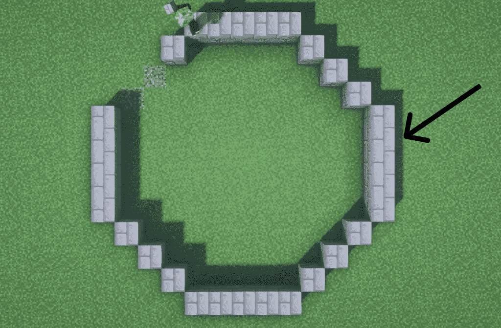 circular base to build lighthouse minecraft