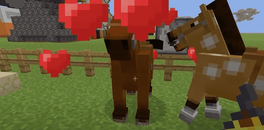 golden apple feed horses minecraft