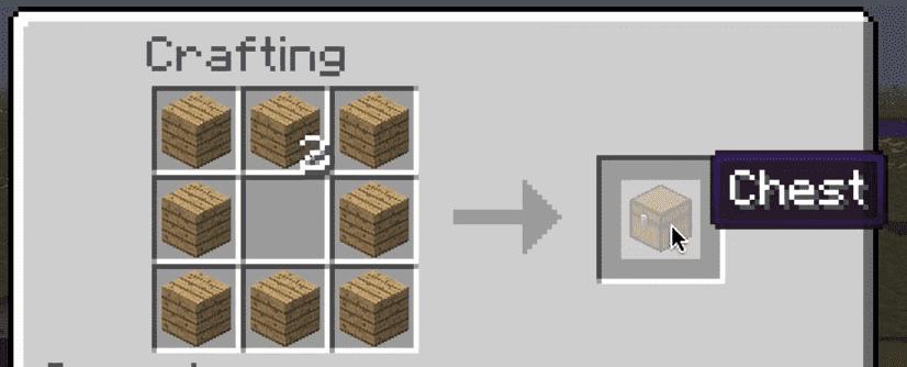 Crafting Minecraft Chest