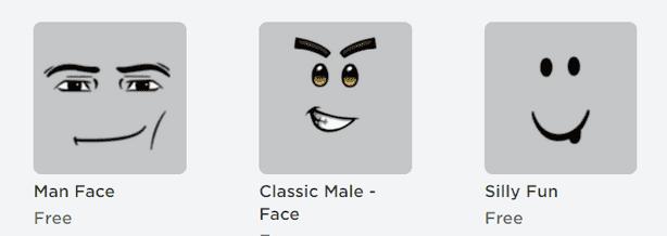 Roblox faces