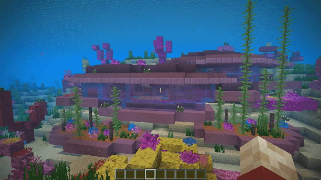 Under water house in minecraft