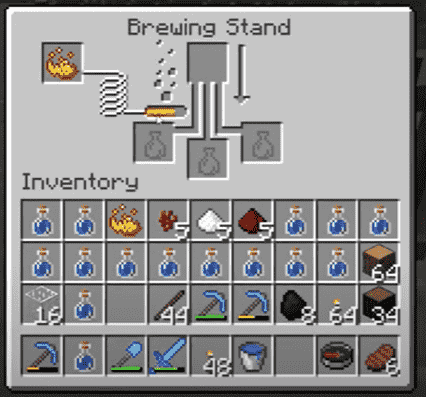 Brewing stand to craft breathing potions