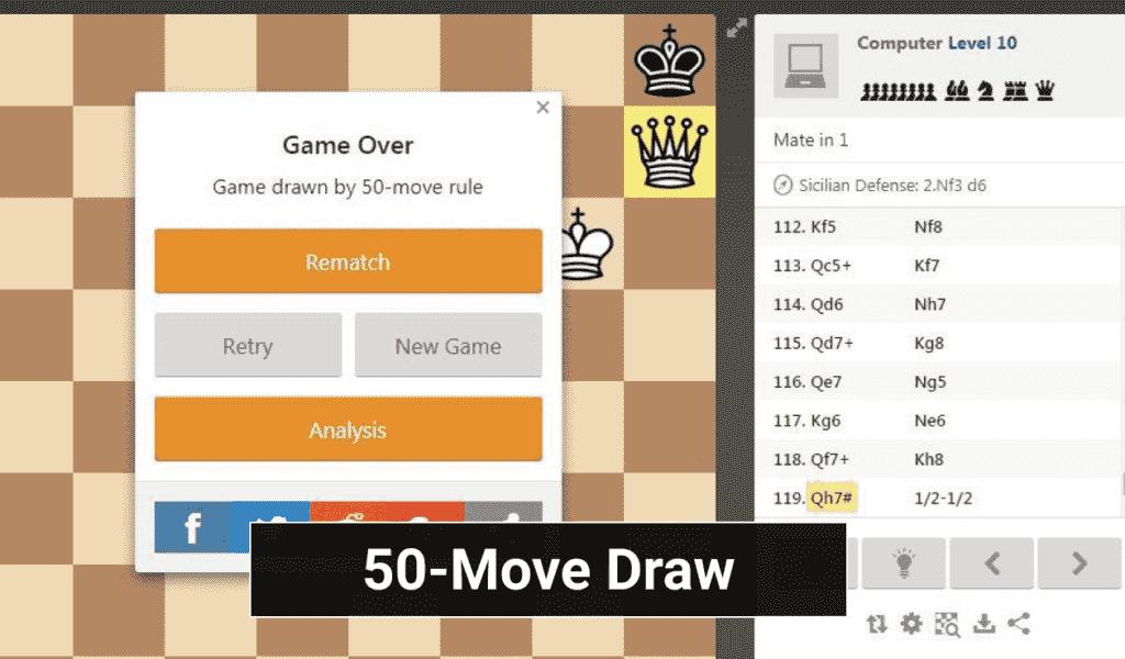 Chess 50-Move Draw
