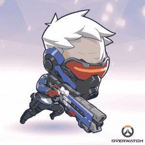 Soldier: 76 Overwatch Cute Sprays