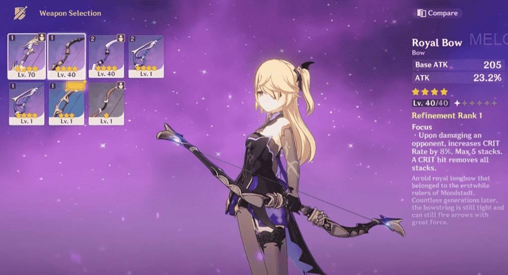 Genshin Impact Weapons Bows