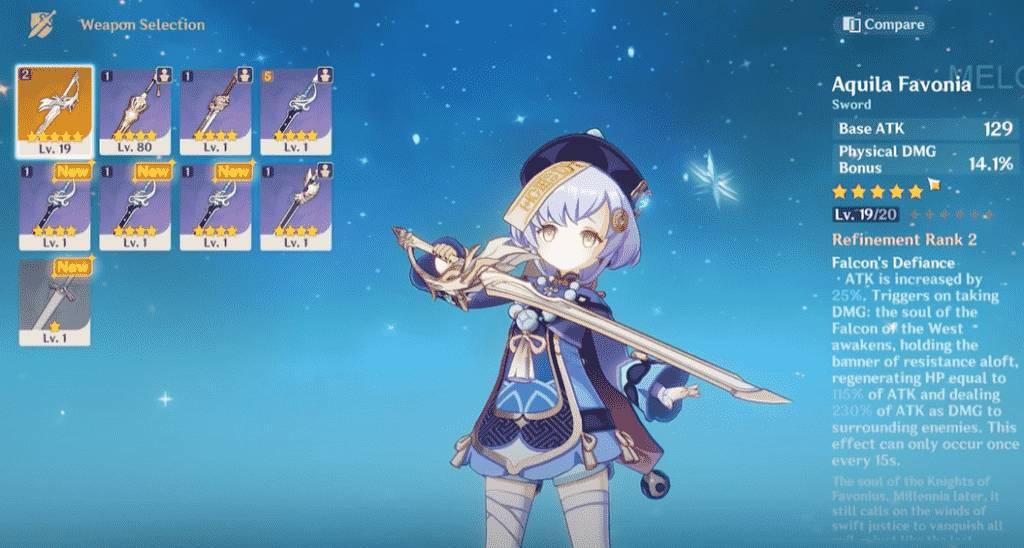 Genshin Impact Swords