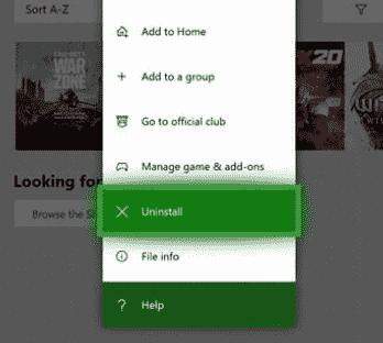 uninstall overwatch Xbox one