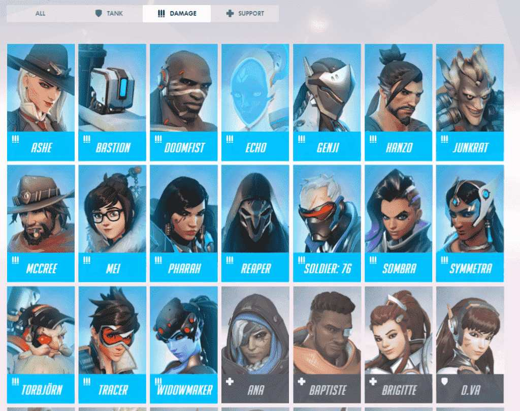 all DPS from overwatch