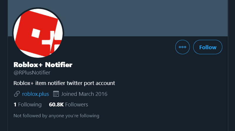 roblox+ twitter page