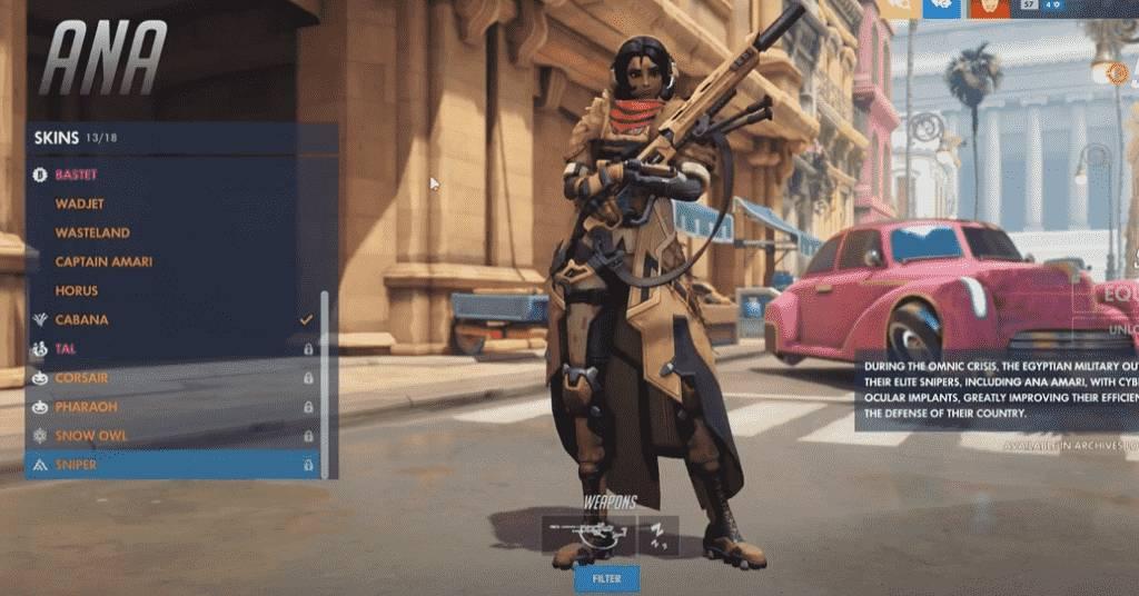 Sniper Overwatch Ana Skin