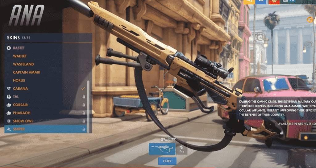 Sniper Ana Skin Gun