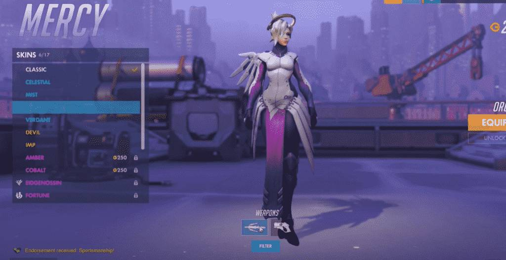 orchid mercy skin