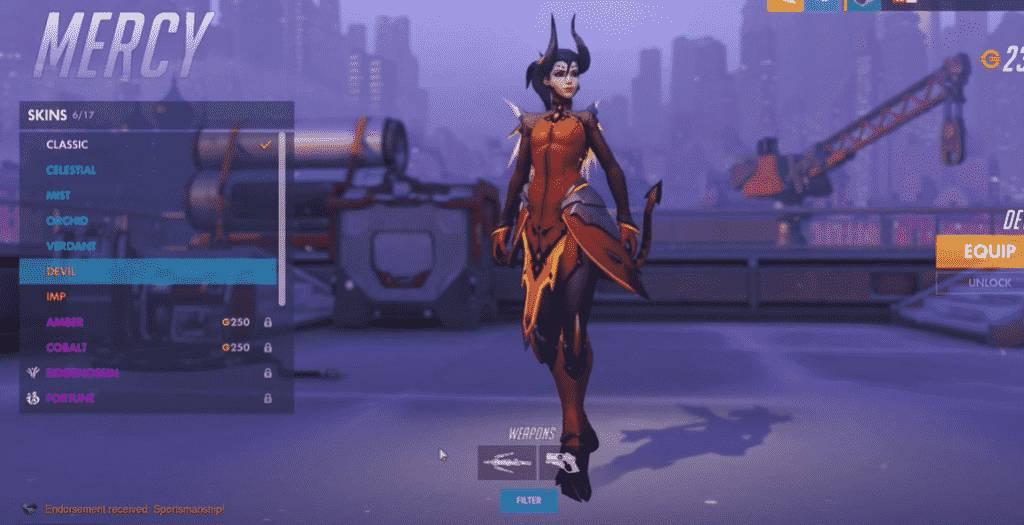 devil mercy overwatch skins