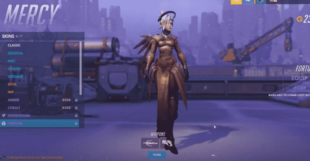 fortune mercy overwatch skins
