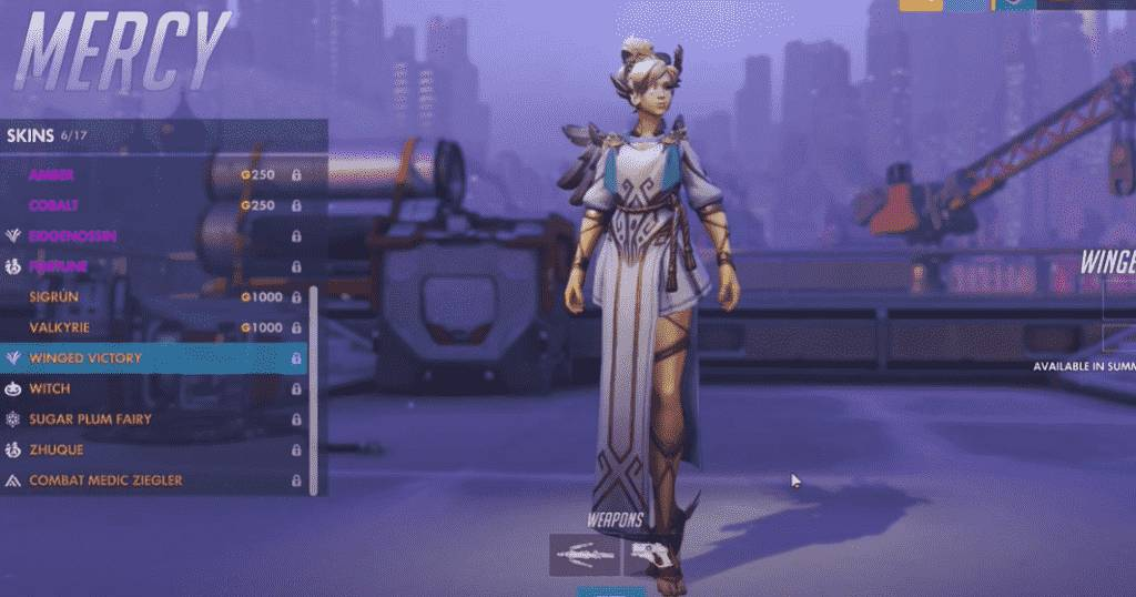 winged victory mercy skin