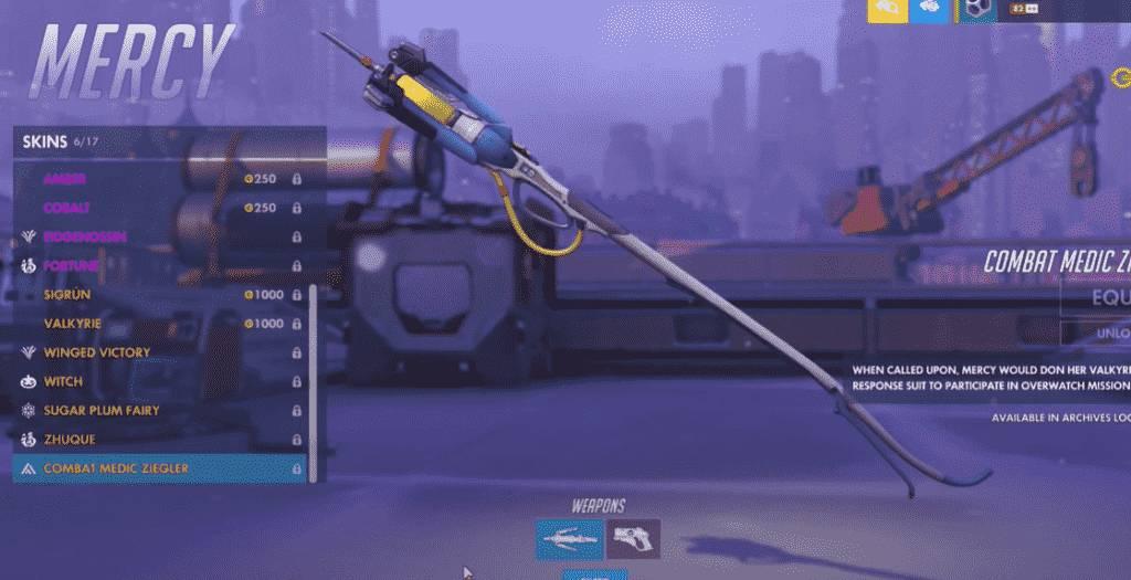combat medic Zeigler mercy weapon