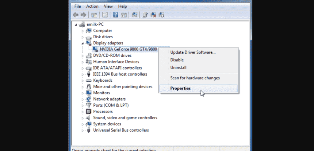 update graphics driver
