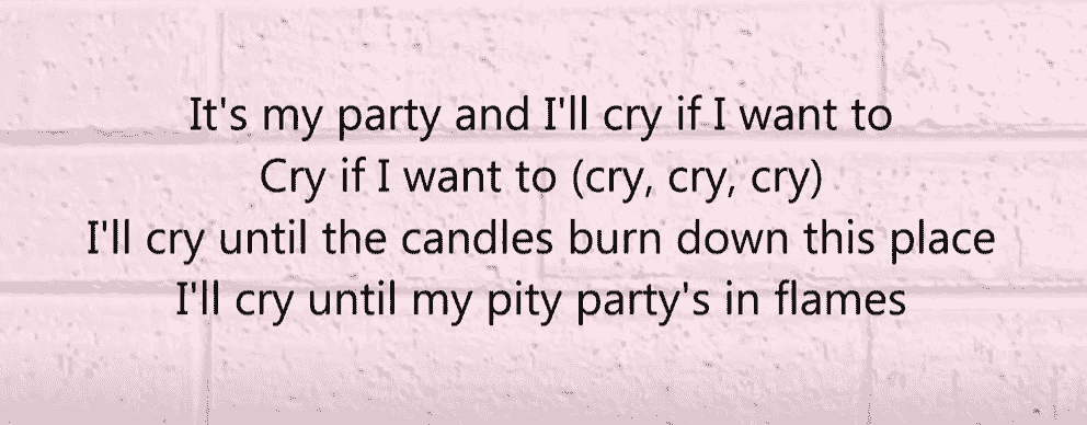 Pity Party song id