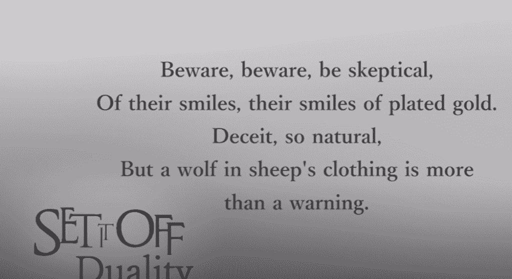 Wolf In Sheep's Clothing Lyrics