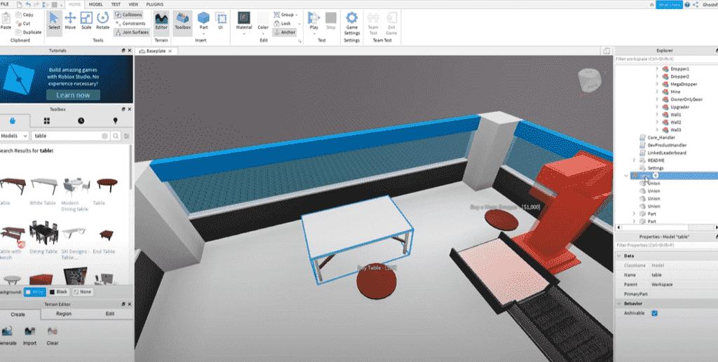Add objects in Roblox Studios